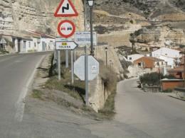 Desvio hacia Tolosa desde Alcala del Jucar