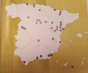mapa pueblos mas bonitos de España.